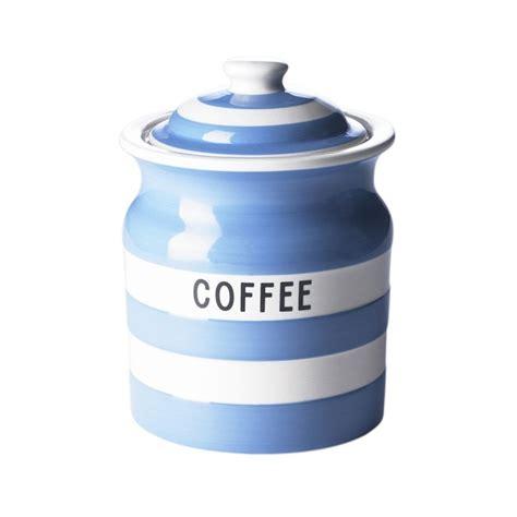 Cornishware Blue or Red & White Stripe Tea, Coffee or Sugar Storage Jars   eBay