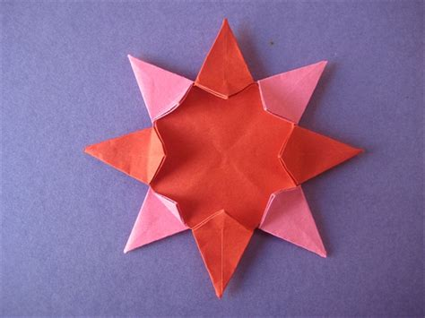 origami 8 pointed how to make an origami 8 pointed from 2 pieces of paper