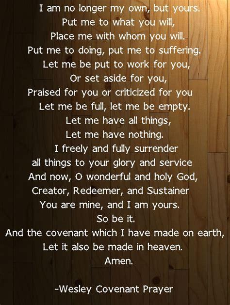 methodist prayer wesley covenant prayer united methodism
