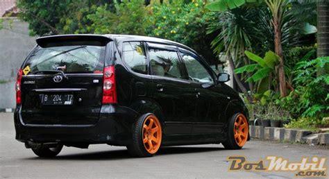 Modifikasi Mobil Hitam by Modifikasi Toyota Avanza Hitam Velg Orange Modif Mobil