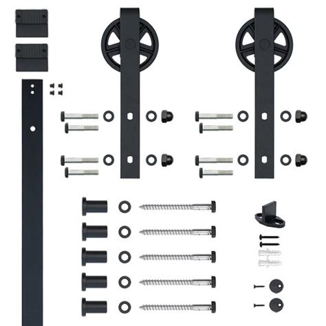 black barn door hardware hook black rolling barn door hardware kit with 5 in