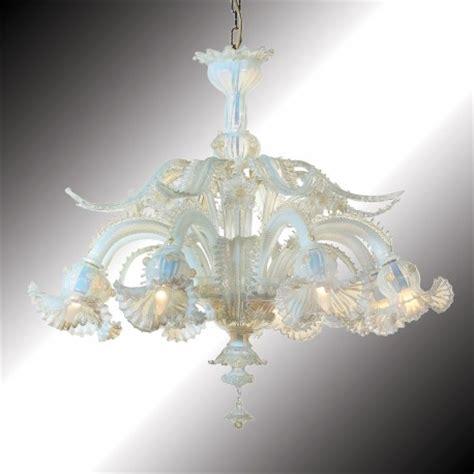 gold glass chandelier quot barbarigo quot opal and gold murano glass chandelier murano