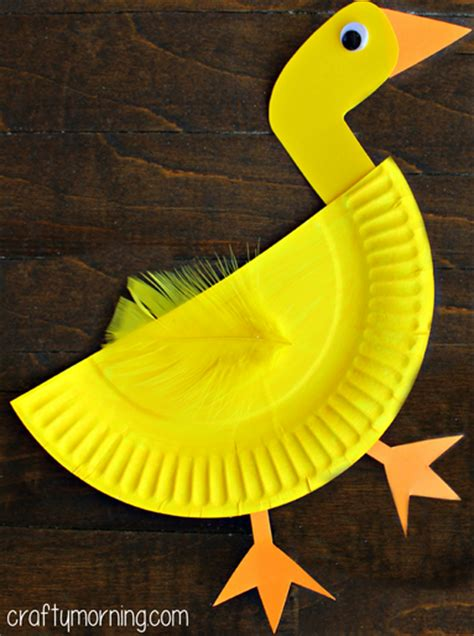 paper plate duck craft paper plate duck craft for crafty morning