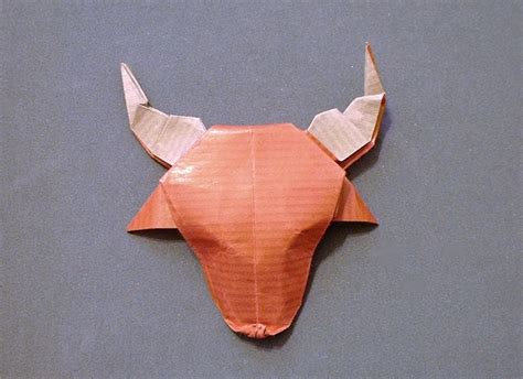 origami bull origami cows and buffalo page 1 of 2 gilad s origami page