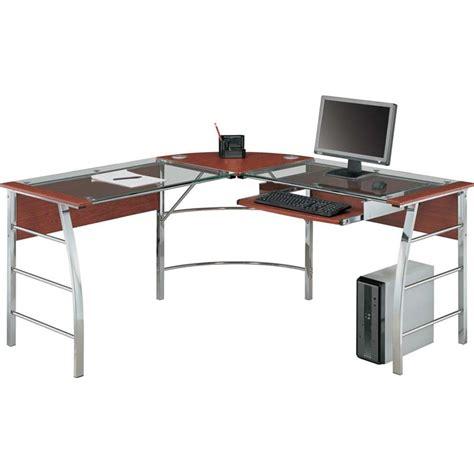 glass l shape desk glass desk l shape altra glass l shaped computer desk