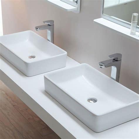 vasque 224 poser rectangulaire 61x37 cm c 233 ramique orba