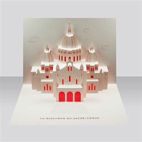 pop up cards sacre coeur pop up card by paper