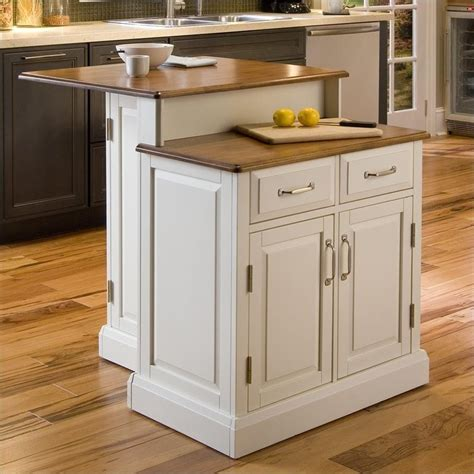 two tier kitchen island shopping order review big sale home styles wilmington white oak two tier kitchen island