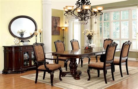 dining room sets with fabric chairs furniture rovledo formal dining room set with