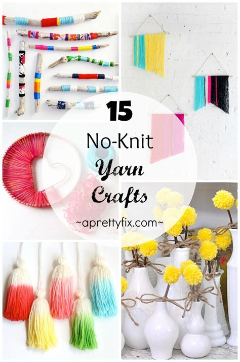 what to make out of yarn without knitting 15 no knit yarn crafts a pretty fix