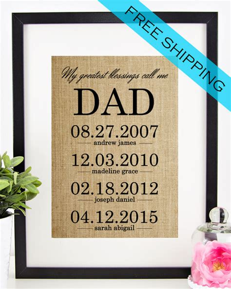 personalised gifts for dads for personalized gift for s day gift from by