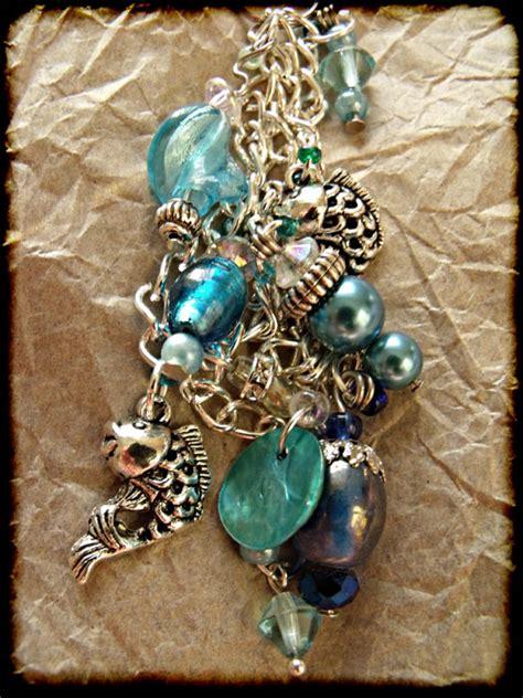 beaded bag charms blue silver beaded fish bag charm jewellery bag