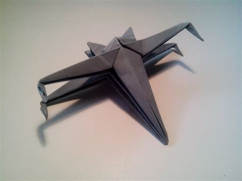 how to make an easy origami x wing hice una nave de wars y te lo muestro paso a paso
