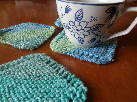 knitted coaster pattern free simple knit coasters by beth shib2390740 knitting pattern