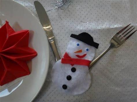 no 235 l d 233 co de table porte couvert bonhomme de neige
