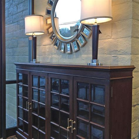 credenza glass doors dark wooden credenza with glass doors arranged with two