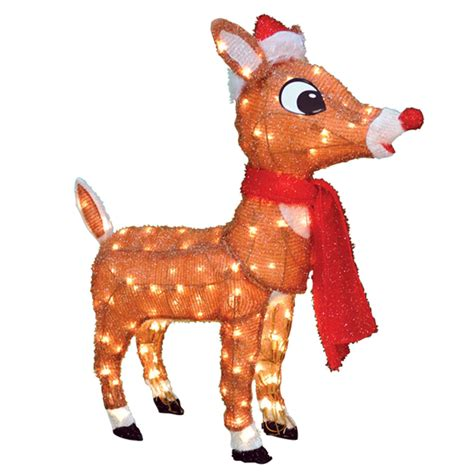 rudolph the nosed reindeer outdoor decorations rudolph the nosed reindeer 40510 32in 3d soft
