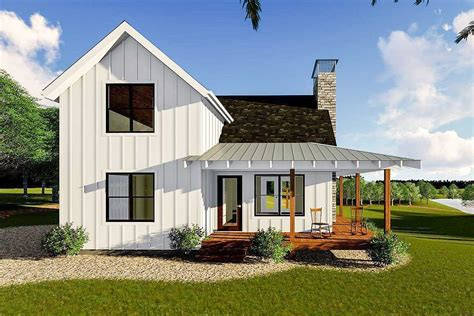 new farmhouse plans modern farmhouse cabin with upstairs loft 62690dj architectural designs house plans
