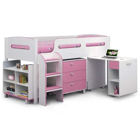 cabin bed with desk julian bowen kimbo pink cabin bed with pull out desk