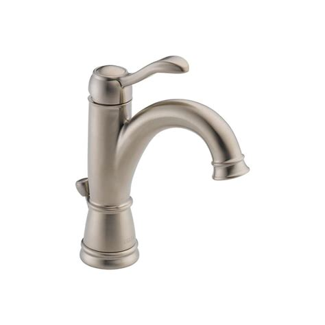 delta brushed nickel kitchen faucet faucet 15984lf bn in brushed nickel by delta