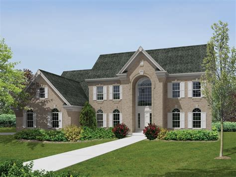 2 story colonial house plans 4 bedroom 4 bath colonial house plan alp 09hp allplans