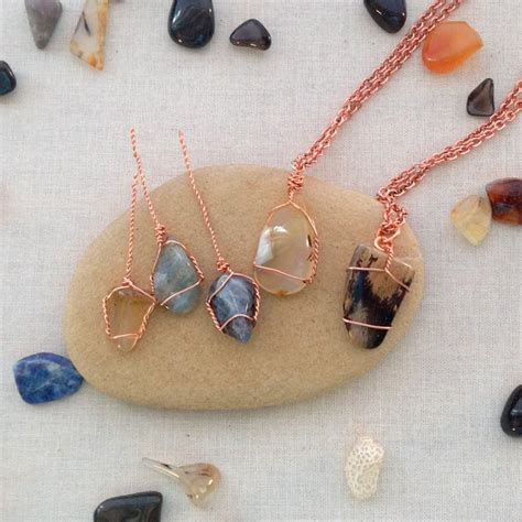 how to make jewelry with stones creative ways to put your rock collection to use