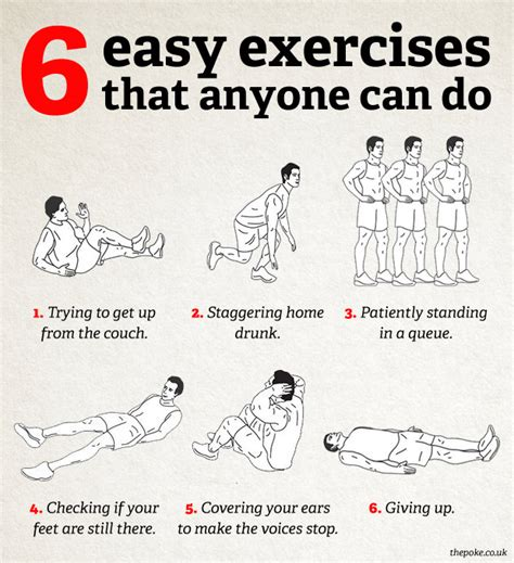 for to do at home 6 easy exercises that anyone can do the poke