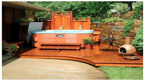 tub backyard ideas backyard tub privacy home outdoor decoration