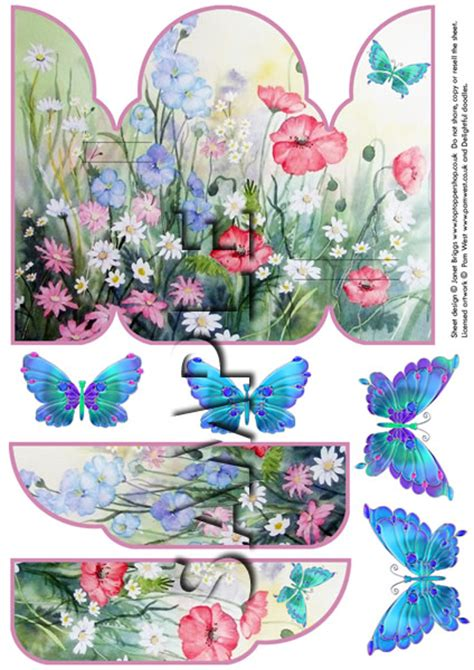 free decoupage sheets to print gatefold pop up decoupage card printed sheet