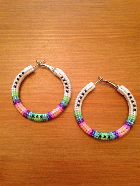 how to make american beaded hoop earrings kitchen dining