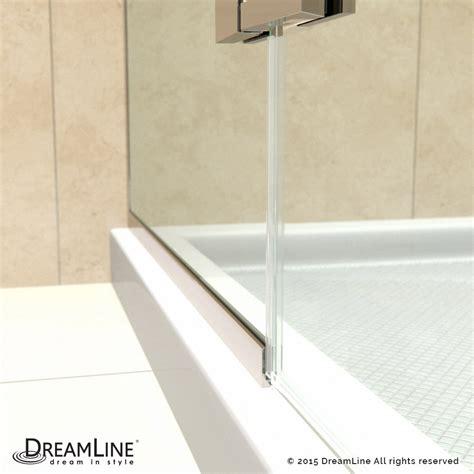 shower door u channel unidoor plus half frosted glass shower door