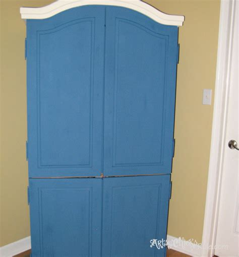 chalk paint process armoire transformed finishing up with chalk paint