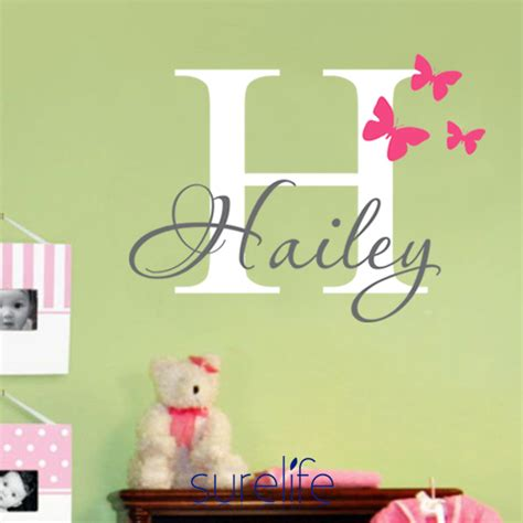 name stickers for wall butterflies name personalized princess vinyl wall sticker