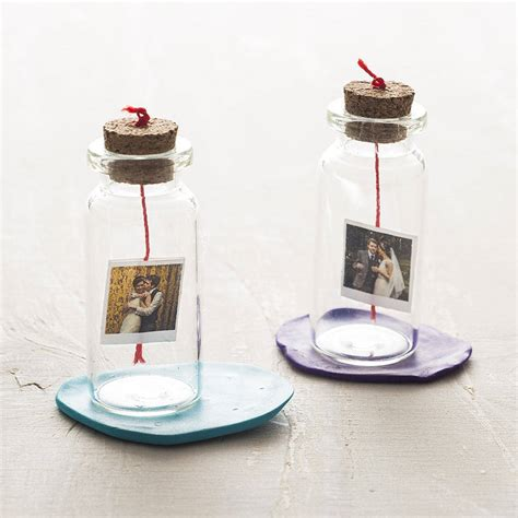 Unisex Gift Ideas personalised mini photo and message bottle by
