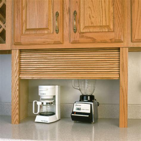 appliance garage wood tambour kitchen appliance