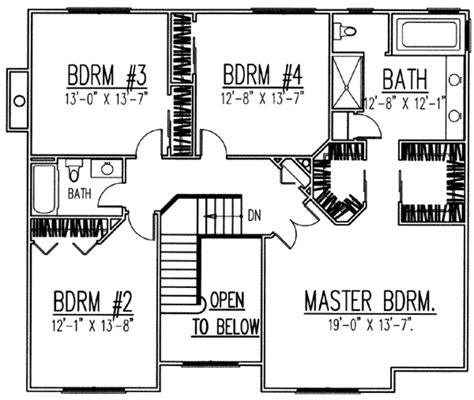 2700 square foot house plans traditional style house plan 4 beds 2 50 baths 2700 sq