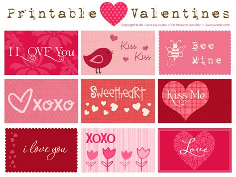 make free cards to print printable valentines june design illustration