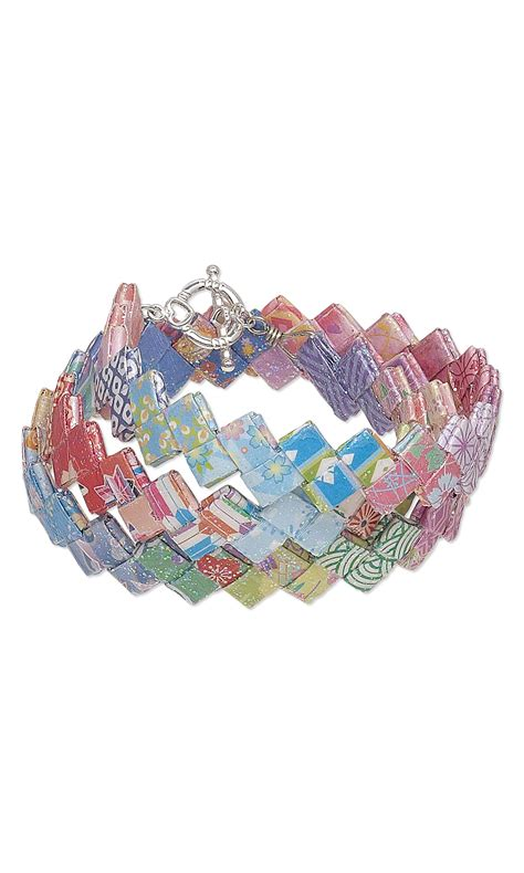 origami bracelet jewelry design bracelet with origami paper and mod podge
