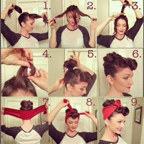 pin up hair step by step pictorial vintage retro