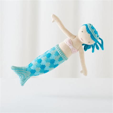 knit mermaid doll knit crowd mermaid doll ina 14 quot the land of nod
