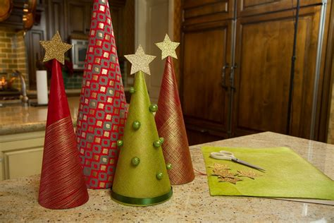 paper cone tree craft wrapping paper trees let s craft with