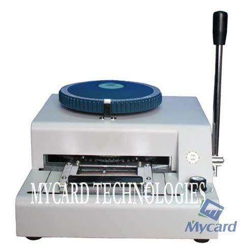 id card machine china pvc card embosser machine id card embosser mc