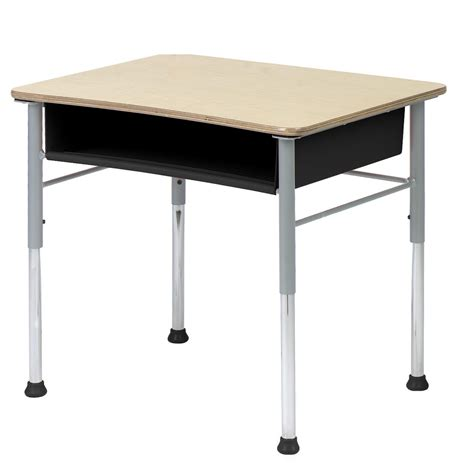 virco student desk virco fusion maple open front student desk at hayneedle