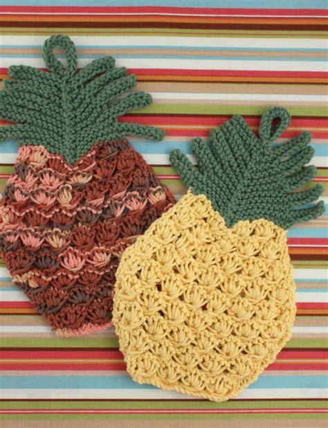 knitted pineapple pineapple dishcloth knit pattern yarnspirations