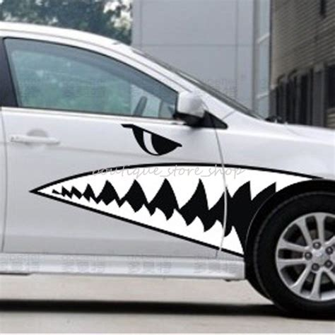 Car Wallpaper Stickers by 2pcs M L Shark Teeth Side Door Personality Whole