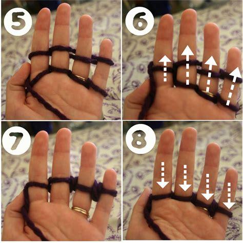 how do i finger knit quot lines across quot finger knitting tutorial
