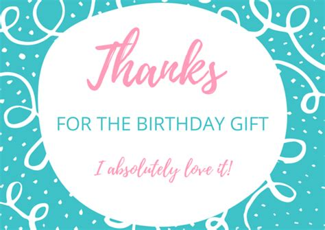 thank you for the gifts free birthday thank you card printables