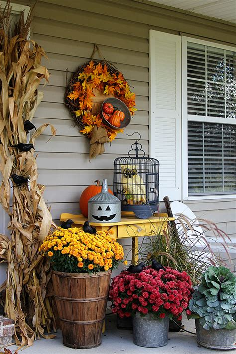 ideas for fall 55 cozy fall patio decorating ideas digsdigs