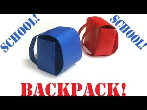back to school origami origami daily 399 back to school backpack tcgames