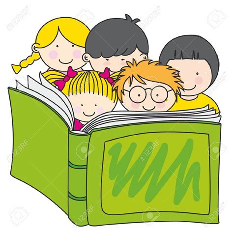reading picture books 12352600 children reading a book stock vector book